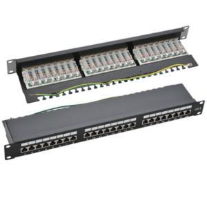 NaviaTec 19 Cat6 Shielded 24Port Patch Panel